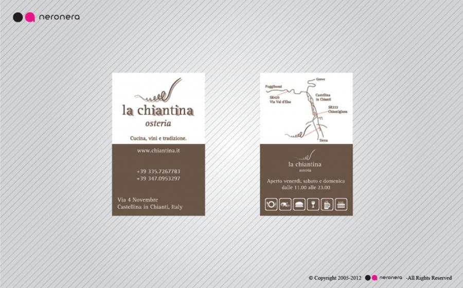 La Chiantina Business Card - neronera